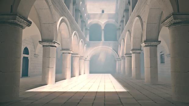 【フリー素材】アニメ風の宮殿・教会・監獄内部 その5