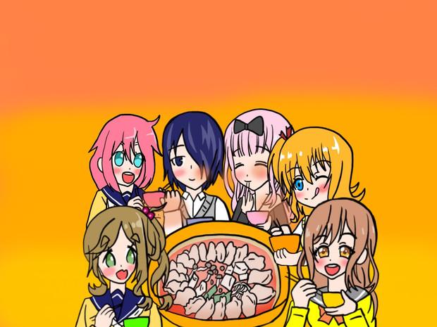 昨日と今日の子と餃子鍋誕生日パーティー