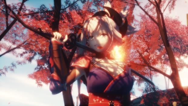 紅葉の中で武蔵ちゃんと再会しましょう