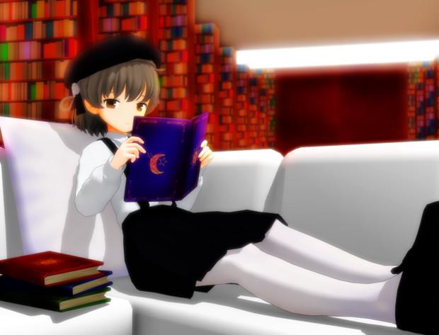 読書しています