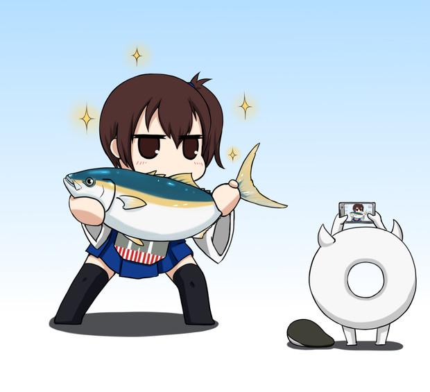 ブリを釣った加賀さん