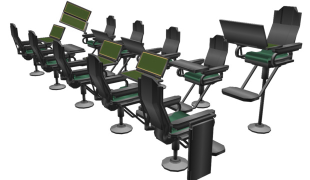 【MMD】電子端末付き座席【配布】
