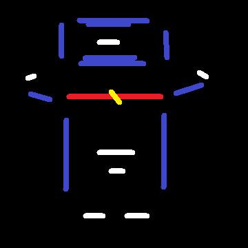 抽象的な国民的ロボット