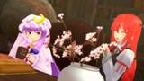 【東方ニコ楽祭・花見】図書館の桜前線
