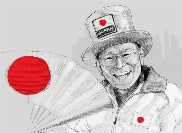 追悼画:オリンピックおじさん