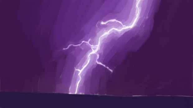 落雷 背景