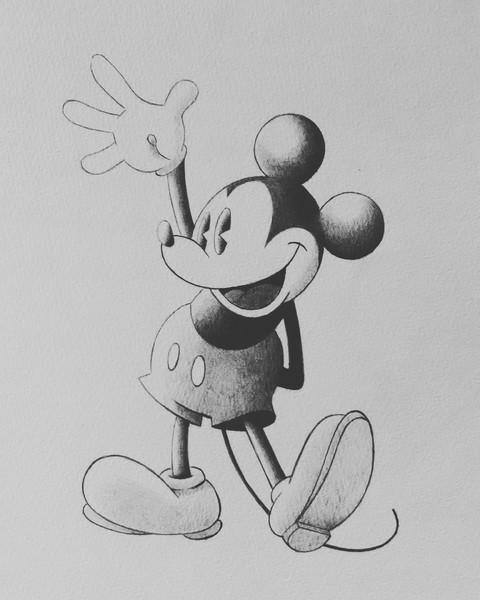 ボールペンアート/ディズニー、ミッキー