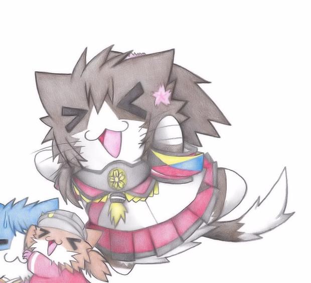 ダイブする大和猫