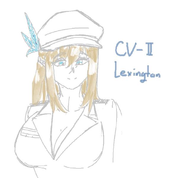戦艦少女落書き‐レキシントン