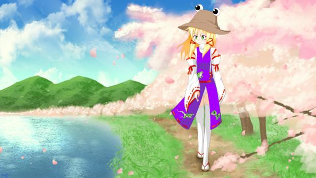【東方ニコ楽祭・花見】桜の湖畔