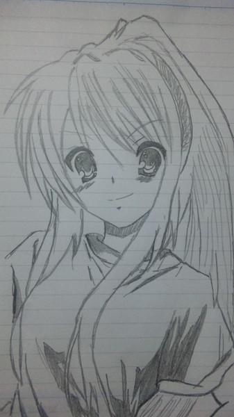 授業中にハルヒを描いてみましたw
