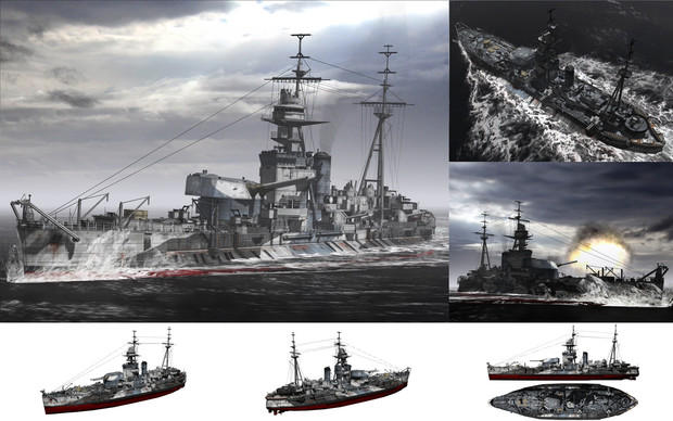 MMD用モブモニター艦1940(モバーツ)セット