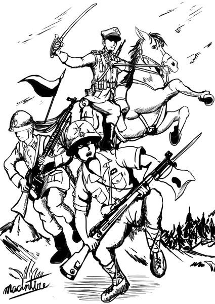 【リク絵】日波同盟かく戦えり