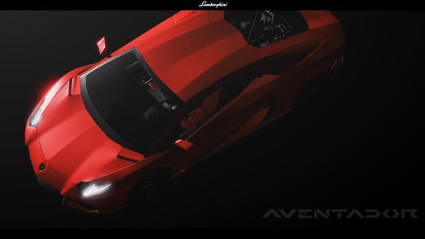 Lamborghini Aventador LP700-4【MMDモデル配布あり】