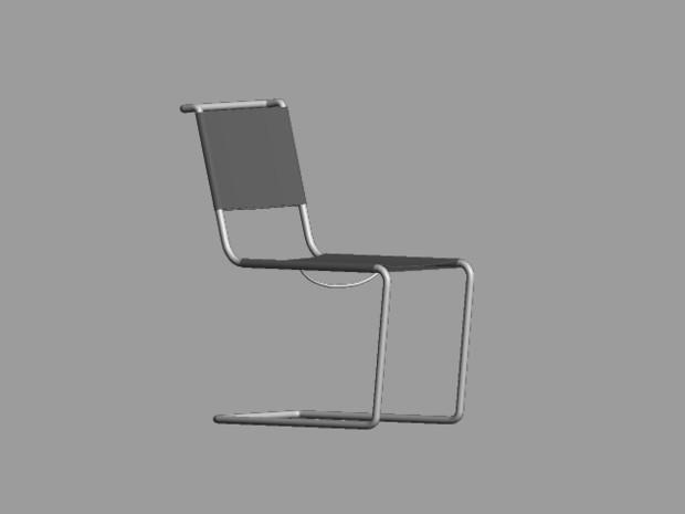 キャンティレバーの椅子/Cantilever Chair