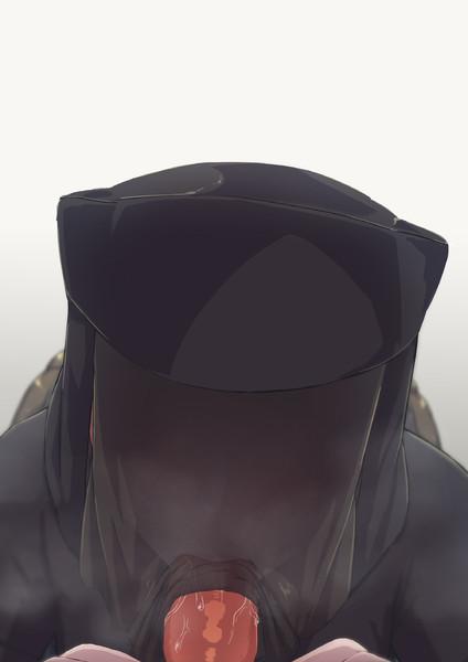 黒子さんにフランクフルト頬張ってもらった