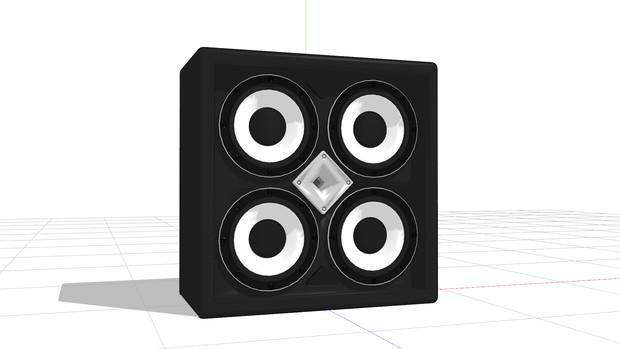 MMDモデル スピーカーボックス