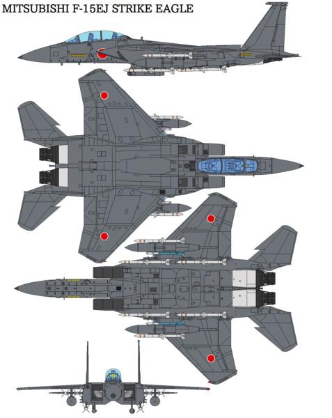 【架空戦闘機】航空自衛隊 F-15EJ ストライク・イーグル【bagera3005】