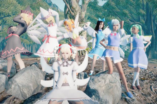 妖精がだいぶ増えたので記念撮影