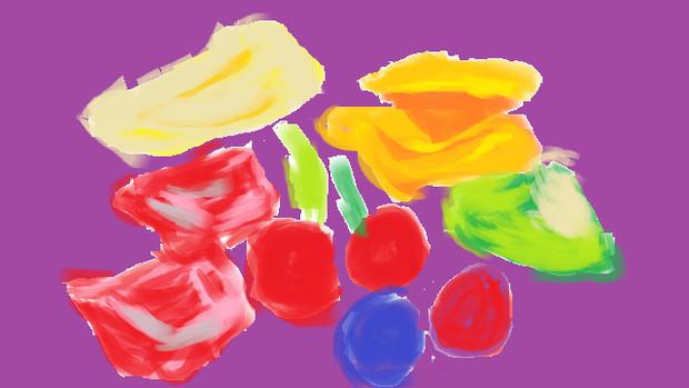 果物の水彩画
