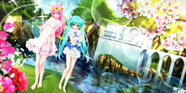 【今日のYYBルカさん】楽園の水辺へ おさんぽ♪