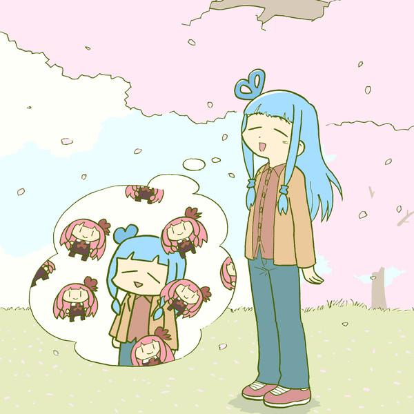 桜の花びらに茜要素を感じる葵