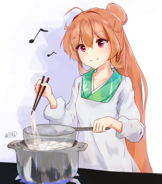 蕎麦茹でセンリョウちゃん