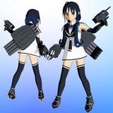 【MMDモデル更新】SSR式 艤装つき涼風改ver1.20