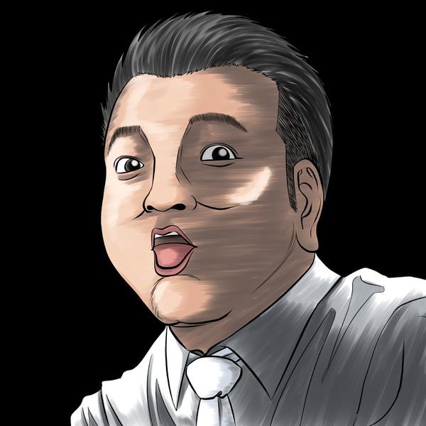 いざ!ザキヤマ氏(アンタッチャブル)の似顔絵描いてみた。お笑い好上委員会。