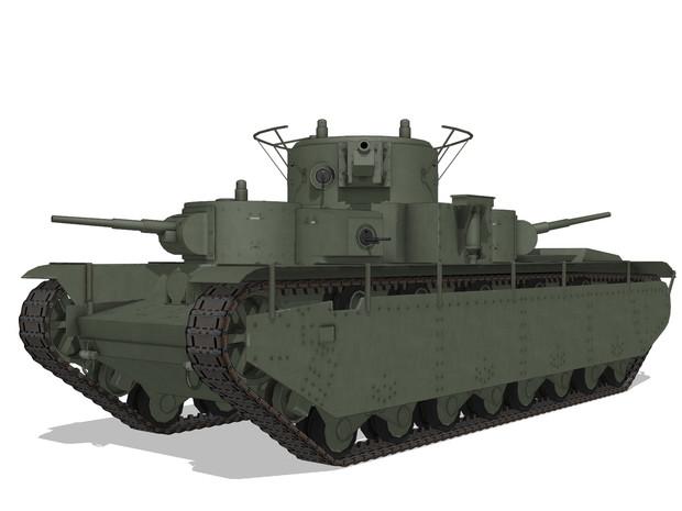 【MMD-OMF9】 T-35 【MMDモデル配布】