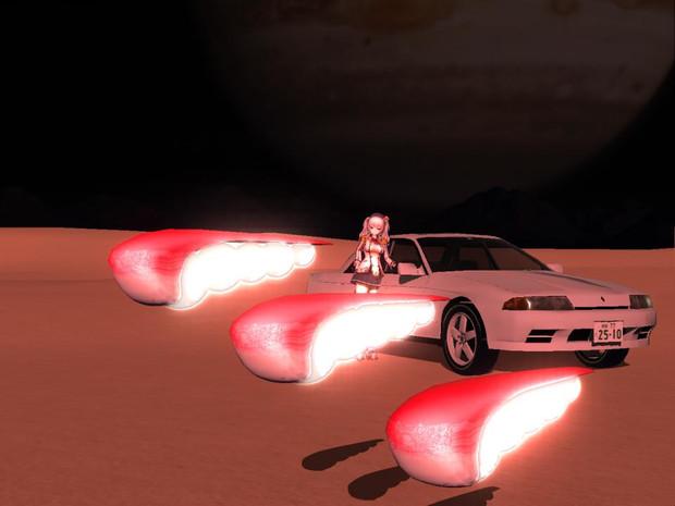 【MMD-OMF9】スペースフィッシュ(R32スカイラインのオマケつき)【モデル配布あり】