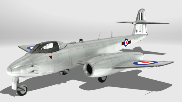 【MMD-OMF9】Gloster Meteor F.8【モデル配布】