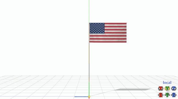 【MMD-OMF9】月の星条旗