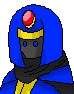カードワース素材:青黒魔法使い