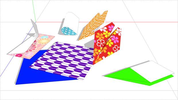 【MMD-OMF9】折れる紙飛行機
