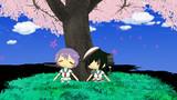 多摩・木曾 桜の木の下で休憩中