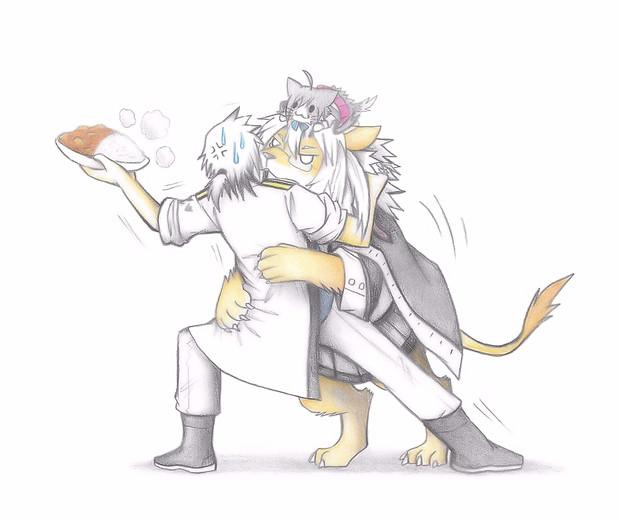 ご飯を欲しがる武蔵ライオン