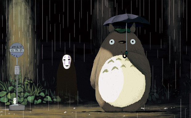雨とトトロとカオナシと
