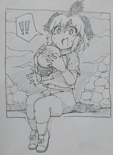 ハンバーガーを食べるロードランナーちゃん