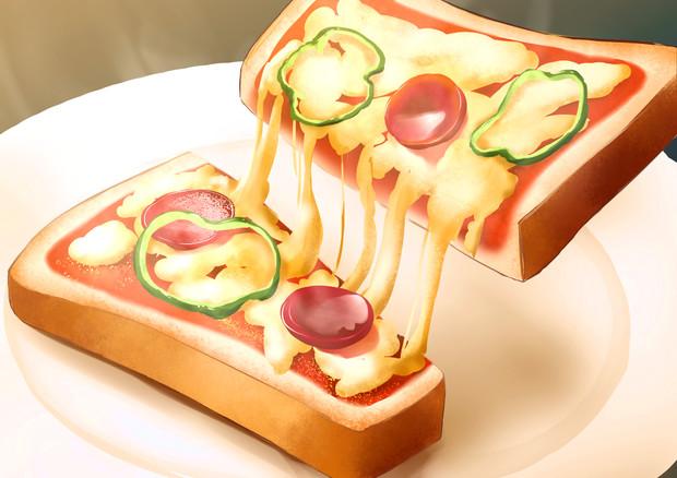 腹が減った時のピザトースト