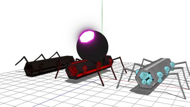 【MMDケムリクサ】 ムシ(アカムシ) 六角型ver.1.0【モデル配布】