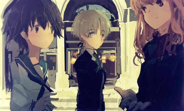 宮藤とリーネとフェル