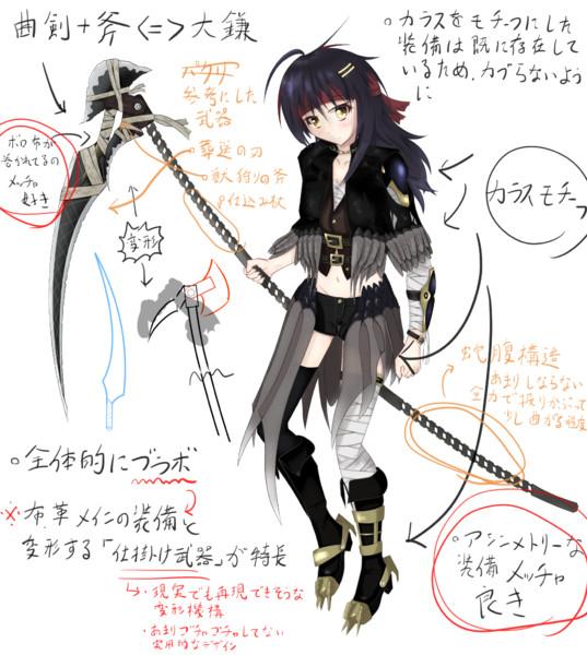 ブラボ風オリジナル装備な狩人ちゃん