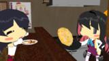 チャーハン仲間の阿賀野姉ぇに特別な戦闘糧食を作ってあげる長波サマ