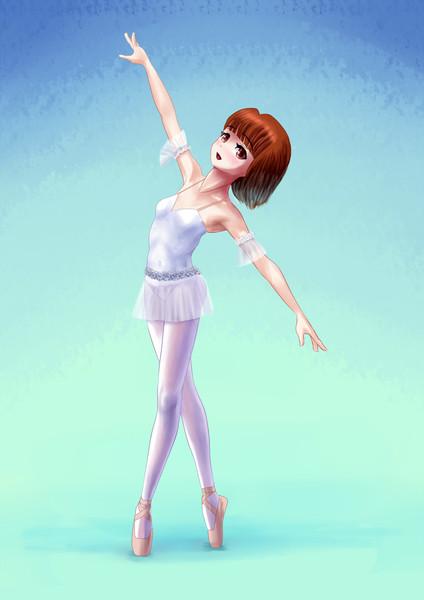 短髪のバレエ少女