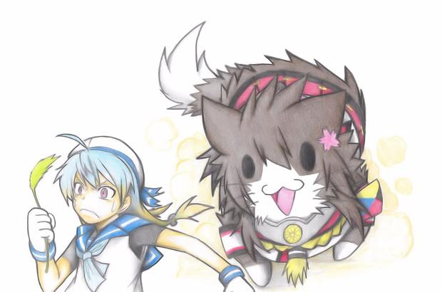 佐渡を追いかける大和猫