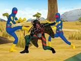 ゲルショッカー戦闘員にボコボコにされる再生蜘蛛男