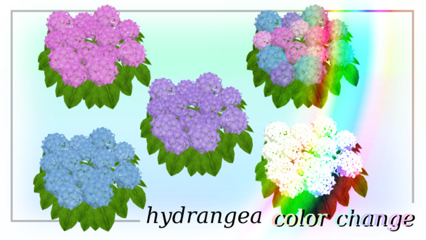 色変り紫陽花(群生)セット v1.0
