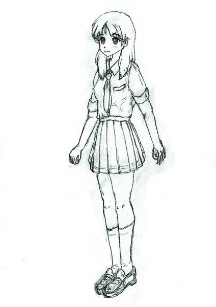 女の子立ち姿 鉛筆らくがき練習 つぐみともみ さんのイラスト ニコニコ静画 イラスト