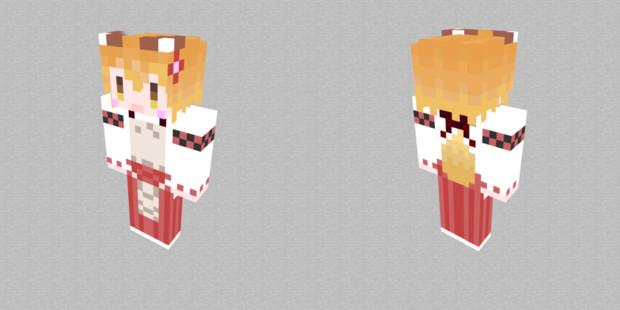 Minecraft 自作スキン 仙狐さん